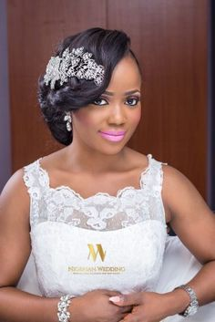 A Gorgeous Bridal Hair & Makeup Inspiration By Dee Q Looks & Hair by Sleame - Nigerian Wedding