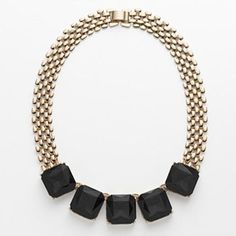 Gold Tone Collar Necklace