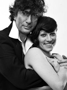 Amanda Palmer and Neil Gaiman. Photo by Allan Amato for Coilhouse Magazine. Dresden Dolls, Amanda Palmer, People Of Interest, Neil Gaiman, Monochrome Photography, My People, Music Is Life, Bunt, Just In Case