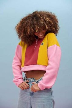 Our much-loved Blake fleece ingorgeous shadesof Pink, olive and rose High funnel neck with zipper,... Curvy Fashion, Retro Fashion, Pink Olive, Creating A Brand, Funnel Neck, Color Stripes, Cuff Sleeves, Ethical Fashion, Fleece Fabric