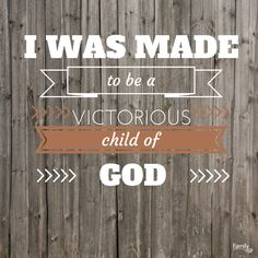 """""""I was made for more than being stuck in a vicious cycle of defeat. I am not made to be a victim of my poor choices. I was made to be a victorious child of God."""" Lysa TerKeurst - Made to Crave. Find it here http://www.familychristian.com/made-to-crave-fe6665557e372ffc630d260f09c801de.html"""