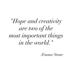 Well said, Emma Stone
