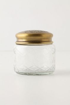 Refracted Ambiance Jar #anthropologie -- this would be perfect to hold my coconut oil on the bathroom counter