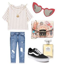 """""""Bright lights in a big city"""" by fru316 on Polyvore featuring MANGO, Furla, Yves Saint Laurent, Chanel and Vans"""