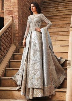 Lehenga Sale: Buy Latest Designs of Lehenga Choli : Panache Haute Couture Indian Bridal Wear, Pakistani Wedding Dresses, Indian Wedding Outfits, Bridal Outfits, Indian Dresses, Indian Clothes, Pretty Dresses, Beautiful Dresses, Muslim Wedding Dresses