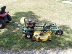 Duncan Neely uploaded this image to 'Homemade trailmower'. See the album on Photobucket. Landscaping Equipment, Lawn Equipment, Garden Equipment, Garden Tractor Attachments, Atv Attachments, Lawn Mower Maintenance, Lawn Mower Repair, Yard Tractors, Tractor Mower