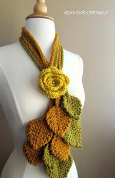 Items similar to Tuscany Rose on Etsy Crochet Hooded Scarf, Crochet Headband Pattern, Crochet Flower Patterns, Crochet Scarves, Crochet Clothes, Crochet Flowers, Freeform Crochet, Crochet Shawl, Knit Crochet