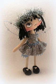 Fairy Angel hand painted cloth doll OOAK by suziehayward on Etsy, $65.00