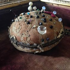 Vintage Lace Covered Pin Cushion - L'Armoire de Camille
