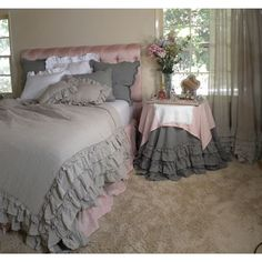 (Limited Supply) Click Image Above: Grey Linen Bedding
