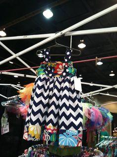 Navy+Chevron+Knot+Dress+by+Groovy+Gurlz+Sizes+6m12m+by+GROOVYGURLZ,+$42.00