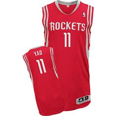 Houston Rockets Yao Ming 11 Red Authentic NBA Jersey Sale
