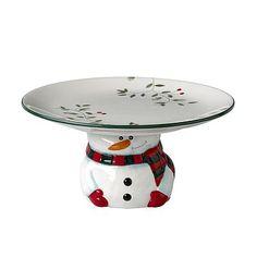 Cute Christmas cake platter...