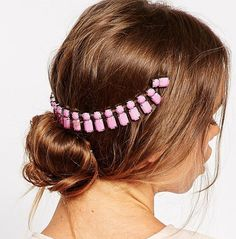 A beaded comb headband to bring your messy bun to the next level.