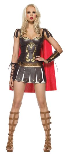 Sexy Halloween Costumes for Women | of destruction in this costume! The Warrior Princess Adult Costume ...