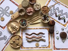 Perfect hands on activity for NAIDOC week or teaching and time of the year about. Aboriginal culture and symbols. Aboriginal Art For Kids, Aboriginal Symbols, Aboriginal Dreamtime, Aboriginal Education, Indigenous Education, Aboriginal Culture, Multicultural Activities, Childcare Activities, Activities For Kids