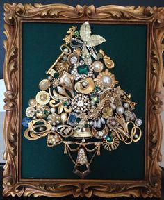 Vintage Jewels and Pins Christmas Tree, would be so fun with Trilly and collecting!