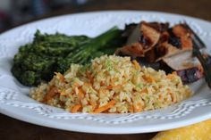 Carrot & Ginger Brown Rice W/Lime- Head into grilling season with this healthy side in your arsenal.  It goes with everything and is fantastic cold on day #2!