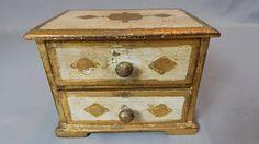Vintage Intalian Florentine Footed Jewelry Box by SlyfieldandSime, $64.00