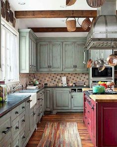 Farmhouse Kitchen Cabinets Decorating Ideas On A Budget (26)