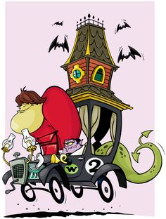 Gruesome Twosome Wacky Races by mattcandraw.deviantart.com on @deviantART