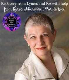 """Facebook Twitter Google+ Pinterest LinkedInAfter recovering from Lyme disease and beginning to get some relief from rheumatoid arthritis with help from Kare's Micronized Purple Rice (MPR), Mary Beth Johnson is making a new career for herself teaching others about this phenomenal product! """"I was so happy to find the Micronized Purple Rice,"""" beams Mary Beth, …"""