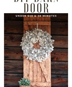 How to build an interior barn door for your home. Step by step tutorial to make your own barn door #barndoor #interiorbarndoor #diybarndoor #gatheredinthekitchen Rag Wreath Tutorial, Wooden Blanket Ladder, Wooden Box Centerpiece, Book Page Wreath, Wire Wreath Forms, Ceramic Christmas Trees, Christmas Wreaths, Scrap Material, Different Holidays