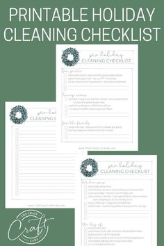 Grab this FREE printable holiday cleaning checklist to make sure your home is guest and party-ready before the holidays! Cleaning Checklist, Cleaning Hacks, Guest Towels, Do It Yourself Projects, Craft Organization, Guest Bath, Getting Organized, Free Printables, Holidays