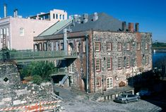"""This building is located at 202 West Bay Street in Savannah, Georgia, next to the Savannah River. It was built before 1790 and can claim to be """"the oldest masonry building in the State of Georgia"""". In the past, it has served as a warehouse for sugar and cotton. It is now the home of the Chart House restaurant."""
