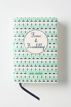Sense and Sensibility mint and navy book cover