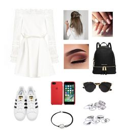 """""""🖤💸"""" by catrinel-grigorescu on Polyvore featuring adidas Originals, Christian Dior and Alex and Ani"""