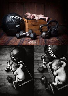 crossfit newborn, Crossfit Southie Newborn Photographer