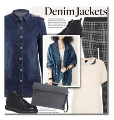 """""""Denim Trend: Jean Jackets"""" by beebeely-look ❤ liked on Polyvore featuring Topshop, StreetStyle, streetwear, jeanjackets, denimjackets and twinkledeals"""