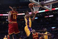 Julius to the rack!! Cavs vs. Lakers 3/10/2016