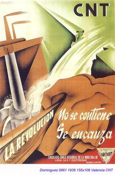 Spain - 1936. - GC - poster - autor: Dominguez