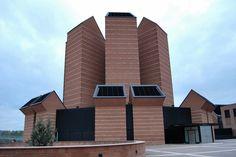 Church of the Holy Face, Turin, Italy. Architect: Mario Botta