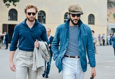 loving the proportions and style -- street style from the 2014 Putti Uomo menswear trade show in Florence