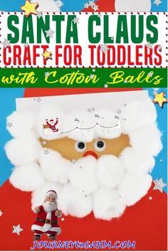 A quick and easy Santa Claus craft to make with kids 2 years old and older with little supplies needed. Christmas is always a fun time for making crafts with the kids. When my daughter turned 2 years old, I jumped on making every simple craft I could with her because I was just so excited! This Santa craft is specifically designed for toddlers, but older siblings can still have fun making it! | Journey to SAHM @journeytosahm #toddlerchristmascrafts #easytoddlerholidaycrafts #journeytosahm