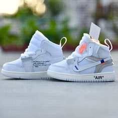 """Handcrafted Off-White AJ1 /""""Euro White/"""" 3D Sneakers Keychain Best Sneakers Gifts"""
