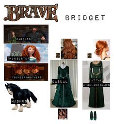 """""""Me in """"Brave"""""""" by c-a-marie2000 ❤ liked on Polyvore featuring Merida and PrimaDonna"""