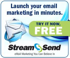 StreamSend.com-launch you email marketing in minutes,try it now FREE