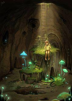 fairy in light
