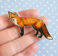 Hey, I found this really awesome Etsy listing at https://www.etsy.com/listing/165242990/illustrated-red-fox-brooch-shrink