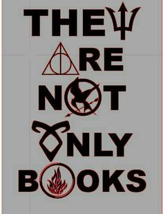 There are not only books // -> Percy Jackson, Harry Potter, Hunger Games, Chroniken der Unterwelt und Divergent I Love Books, Good Books, Books To Read, My Books, Percy Jackson, Hogwarts Brief, Citations Film, Tribute Von Panem, The Hunger Games