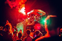 As night time falls at Bestival see the site come to life with the illuminated chaos and debauchery of the Night Parades. #Bestival17 #BestivalColour