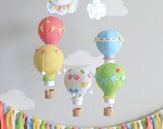 Girafe Mobile pour bébé ballon à Air chaud par sunshineandvodka