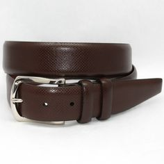 Italian Bulgaro Calfskin Brown 35mm Belt