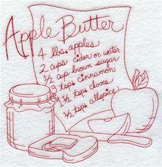 Apple Butter (Redwork)