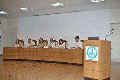 Autoridades do Hospital das Clínicas e da FMB dão as boas vindas ao alunos de medicina e enfermagem