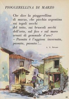 Italian Vocabulary, Illustrated Words, Seasonal Image, Italian Phrases, Maila, Vintage School, Italian Language, Learning Italian, Nursery Rhymes